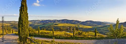 Toskana-Panorama, im Chianti-Gebiet in der Nähe von Lucca