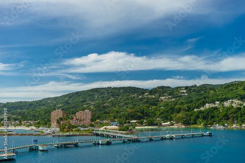 Foto op Canvas Caraïben Panorama of port in Ocho Rios in Jamaica