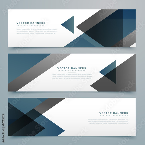 Wall mural vector abstract horizontal business banner set