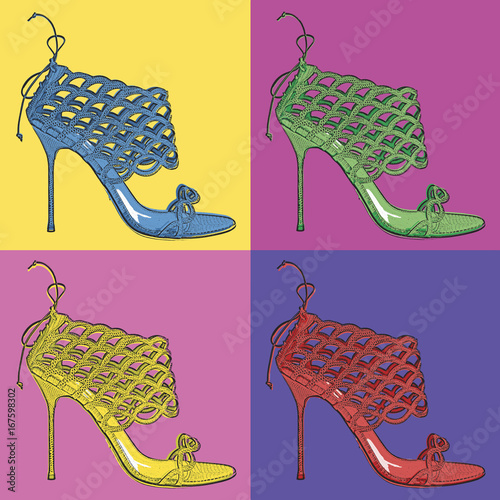 Pop Art Shoe