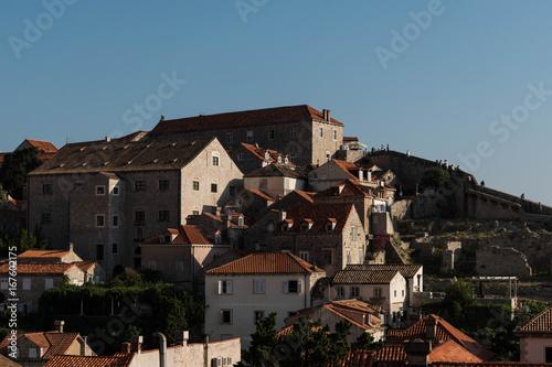 Poster Grijze traf. Dubrovnik