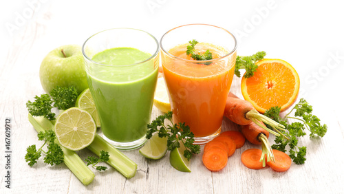 Poster Sap vegetable juice or smoothie