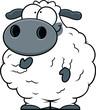Small Cartoon Sheep - 167610102