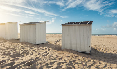 Strandhütten in Zeeland