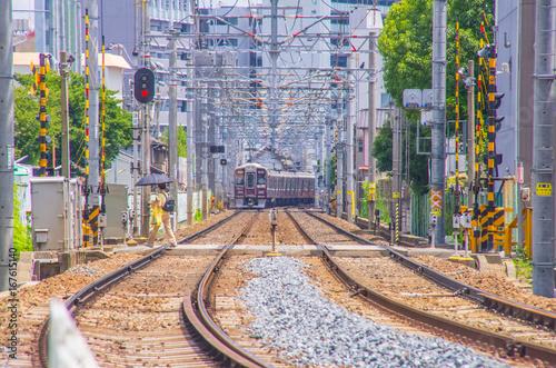 阪急京都線・線路と踏み切り