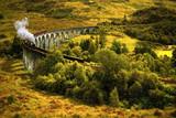 Steam train on viaduct - 167624924