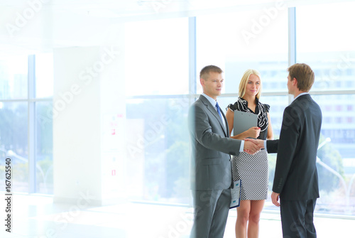 Business people shaking hands after meeting . - 167625540