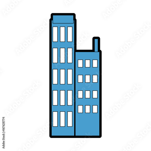 Wall mural city building icon