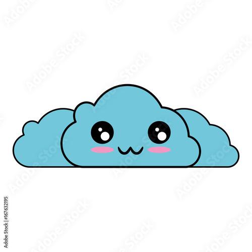 kawaii clouds icon - 167632195