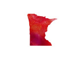 United States Of America. Watercolor texture. Minnesota - 167645303