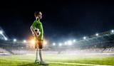 Little soccer champion. Mixed media