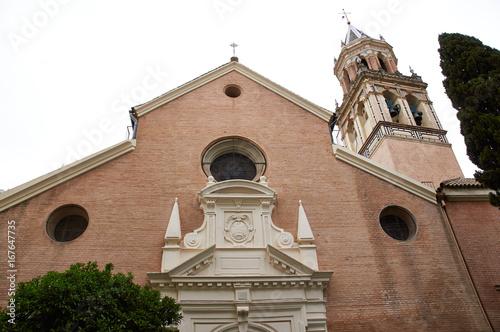Historic buildings and monuments of Seville, Spain. Spanish architectural styles. Santa Angela de la Cruz