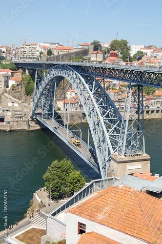 Poster City of Porto, Portugal. Don Luis I Bridge
