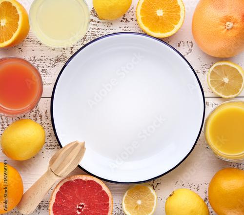 Deurstickers Sap Orange and juice