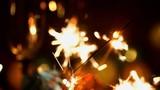 flying sparks / 4k slow motion Video off a burning sparkler with nice bokeh - 167660956