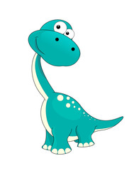 Little  dinosaur. A small dinosaur on a white background.