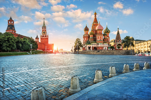 Tuinposter Moskou Вечерний свет на Красной Площади Evening light on Red Square
