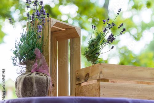 Lavender theme wedding decoration