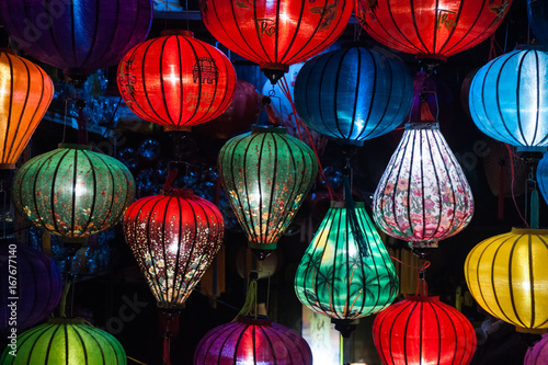 Night lanterns in old Hoi An