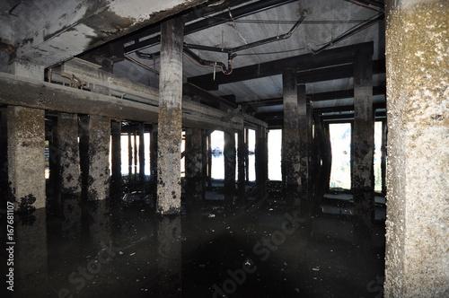 Foto op Aluminium Oude verlaten gebouwen ciry