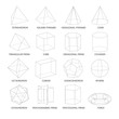 All basic 3d shapes template. Realistic with shadow - 167684904