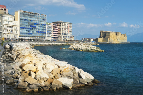 views of Castel dell'Ovo, Naples, Italy
