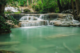 Erawan waterfall in Erawan National Park,Thailand.