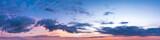 Vibrant panoramic sky on twilight time. Beautiful cloud. Panorama high resolution photograph. - 167691514