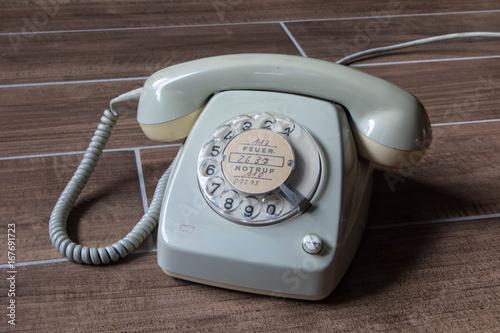 Altes Wählscheibentelefon Poster