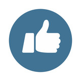 Like Icon Thumb Up Button - vector illustration - 167693139