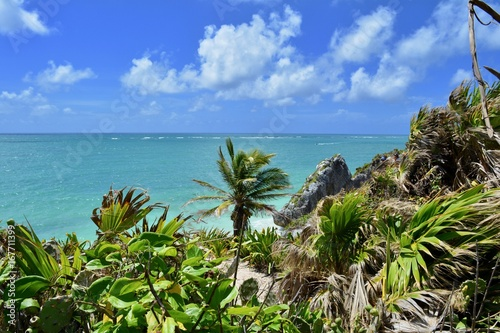 Foto op Canvas Tropical strand Riviera Maya Vista