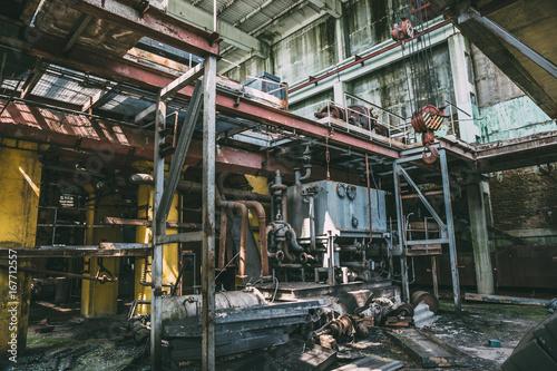 Abandoned factory interior inside