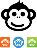 Smiling Monkey Icon - 167713155