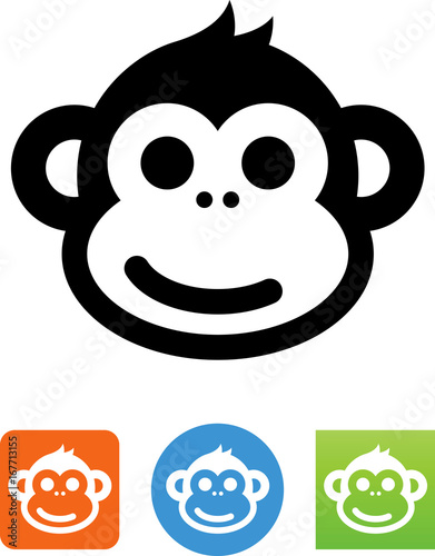 Fototapeta Smiling Monkey Icon