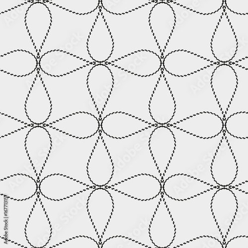 Seamless pattern with geometric shapes and symbols. Vector texture or background pattern. - 167713157