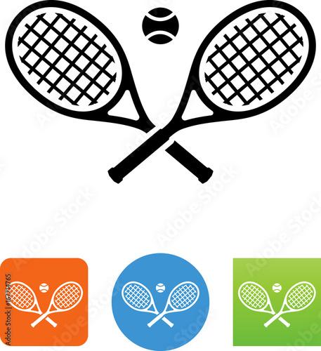 Fototapeta Tennis Rackets Icon - Illustration