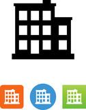 Urban Building Icon - Illustration