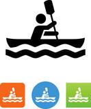 Vector Kayak Icon - Illustration - 167716782