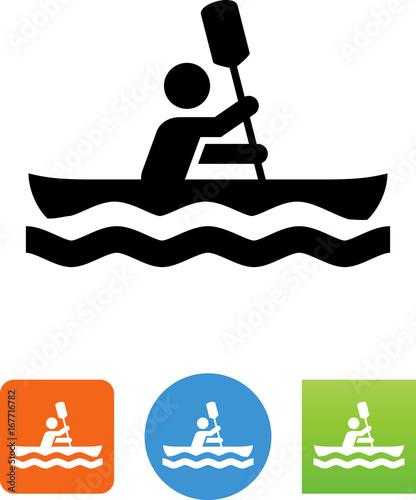 Vector Kayak Icon - Illustration