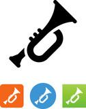 Vector Trumpet Icon - Illustration - 167717793
