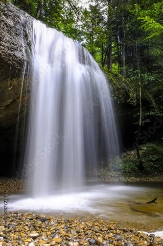 Waterfall in the forest of Austria - 167722302
