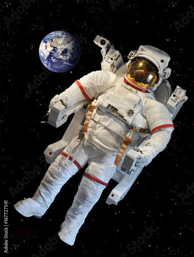 Fotobehang Nasa Astronaut's space suit (Elements of this image furnished by NASA)