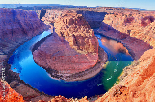Papiers peints Arizona Horse Shoe Bend, Colorado River in Page, Arizona USA