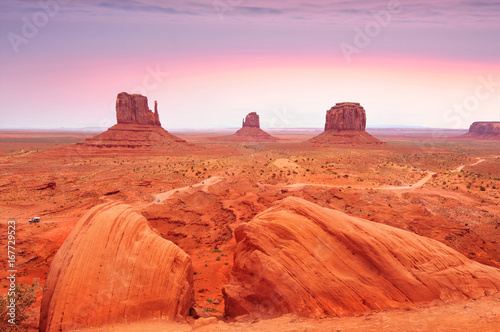 Foto op Canvas Baksteen Monument Valley Tribal Park in the Arizona-Utah border, U.S.A.