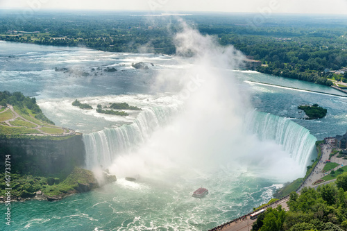 Niagara Falls Horse shoe view from the Canadas side Photo by Alexey Rotanov