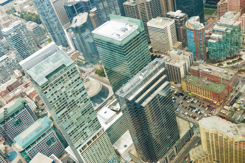 Foto op Canvas Toronto Aerial view of Toronto downtown. Ontario, Canada