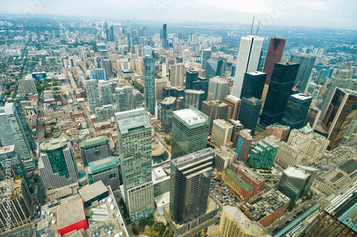 Foto op Canvas Canada Aerial view of Toronto downtown. Ontario, Canada