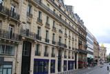 Typical street in Paris, France