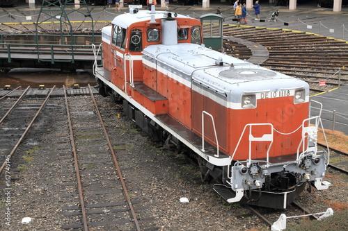 梅小路蒸気機関車庫のディーゼル機関車