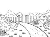 Garden graphic black white landscape sketch illustration vector - 167749709
